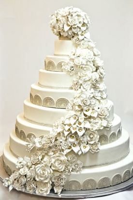 16 Incredible Celebrity Wedding Cakes — Chelsea Clinton and Marc Mezvinsky