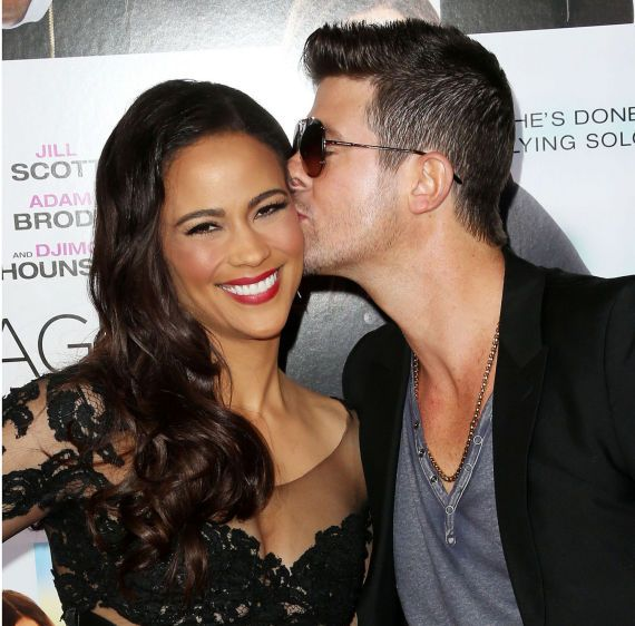 DIVORCE DRAMA: Robin Thicke and Paula Patton
