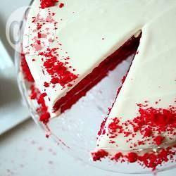 Red Velvet Cake, Roter Samtkuchen, amerikanischer Kuchen, roter Kuchen http://de.allrecipes.com/rezept/17605/red-velvet-cake.aspx