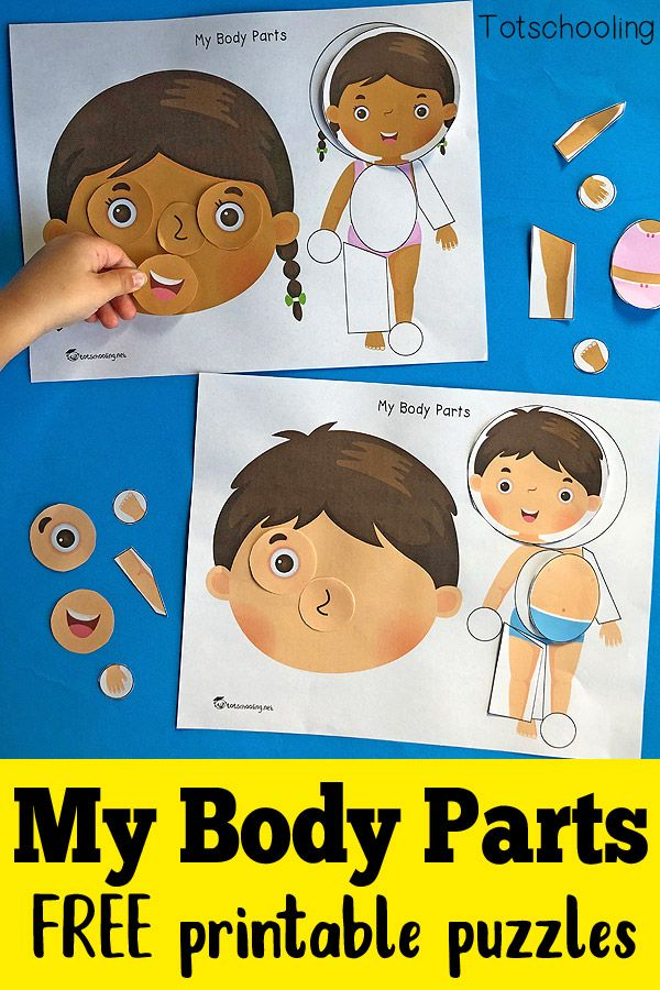 My Body Parts - Printable Puzzles | Totschooling Blog ...