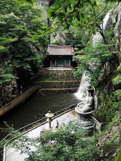 Templo Dragónn Rojo, ciudad Yangsan-Corea del Sur