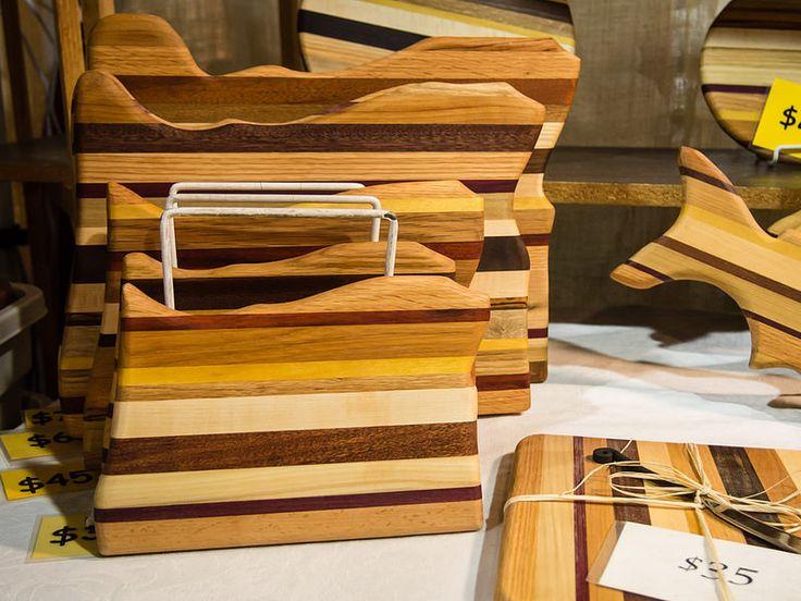 Oregon shaped cutting boards, Bruce Kramer