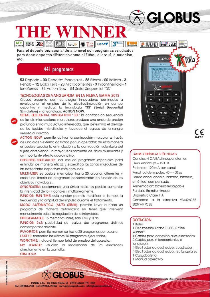 The winner spa rev 09 13  Electroestimulador Globus The winner