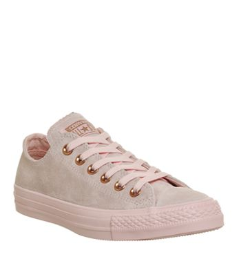Converse, All Star Low Leather Trainers, Vapour Pink Mouse Exclusive