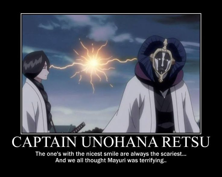 Bleach - I still think Mayuri is creepier, but this is to true lol
