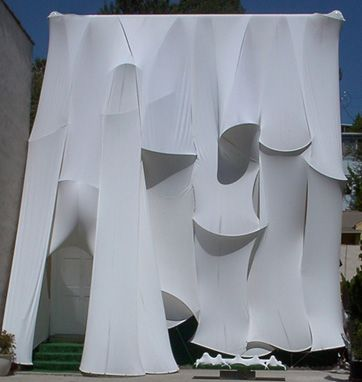 Stretch Fabric Amp Pvc Pipes Fabric Installation Facade