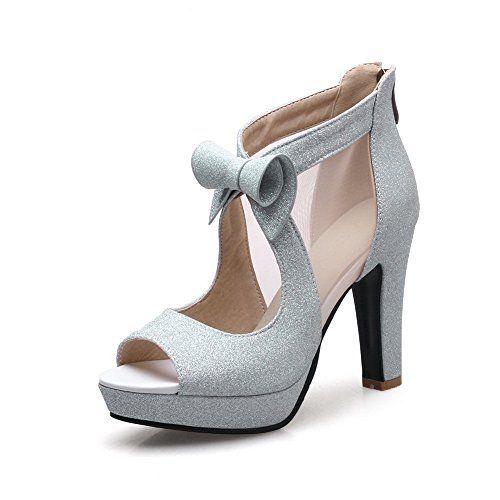 MEI&S Femmes Square Toe Talon Bas Chaussures Bouche Peu Profondes,42,L'Abricot