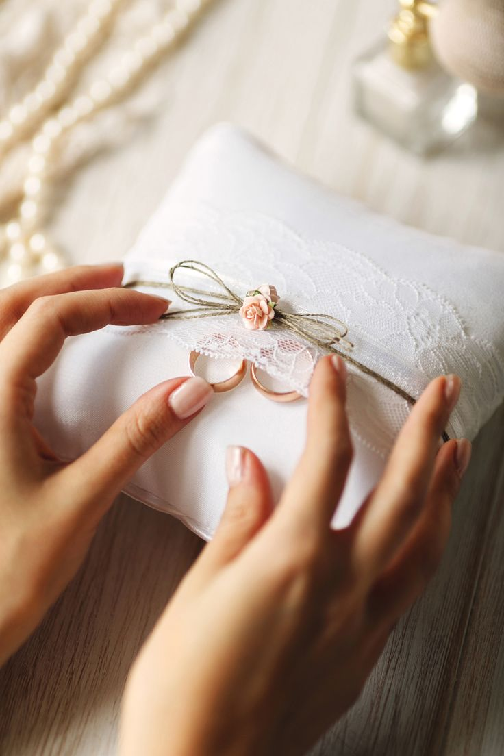 Ring bearer pillow #ring #lace #wedding #weddingday #slowwedding #modernwedding