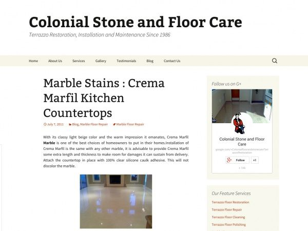 Marble Stains : Crema Marfil Kitchen Countertops