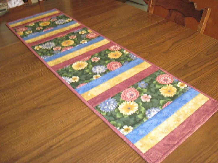 Looking for quilting project inspiration? Check out Spring Table Runner by member pbalsinger@gmail.com. - via @Craftsy