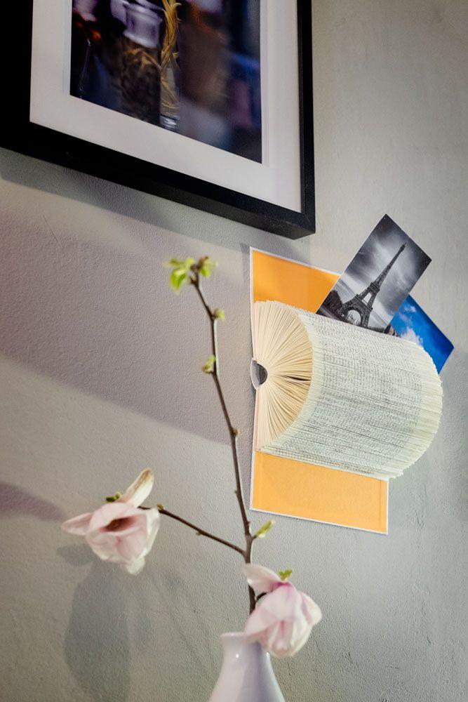 So gefällt der Stille Sammler auch meiner Mama: Ideen mit Büchern, basteln mit alten Bücher, Geschenkidee, Kartenhalter, Notizhalter