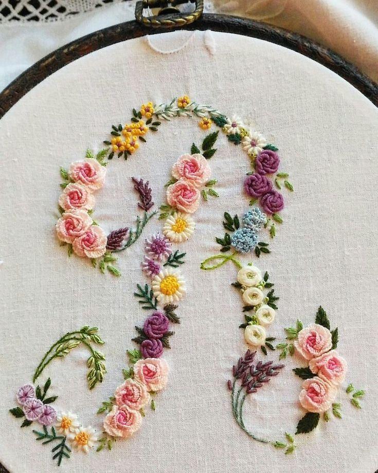 64 best Bullion Flowers & Stitches images on Pinterest   Brazilian ...