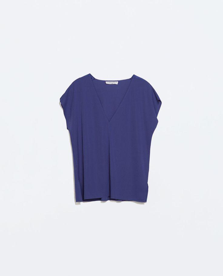 Струящаяся блузка Zara, есть цвет White