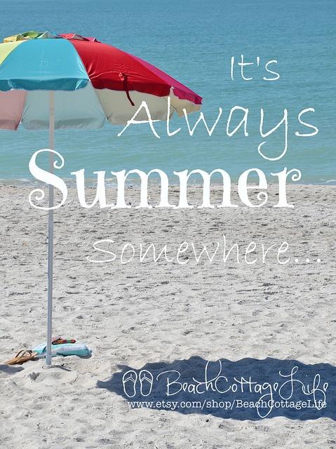 always summer beach umbrella | René Marie Photography | Beach Cottage Life | https://www.facebook.com/BeachCottageLifePhotography