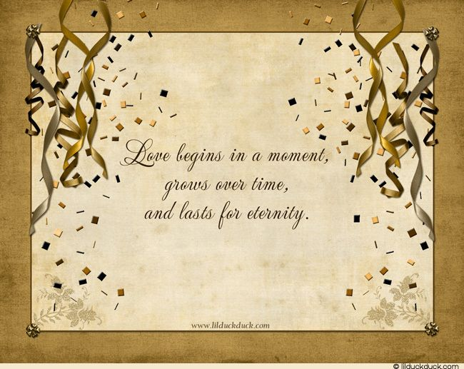words to use for an engagement card love quotes With words for 50th wedding anniversary card