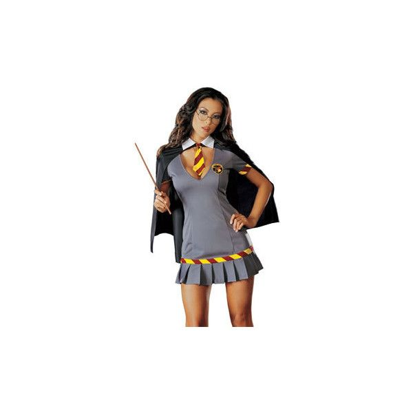 Costume Store - Wizard Wanda : Sexy Adult Costumes ($50) ❤ liked on Polyvore featuring costumes, harry potter, halloween, sexy costumes, sexy adult costumes, sexy halloween costumes, sexy harry potter costume and sexy adult halloween costumes