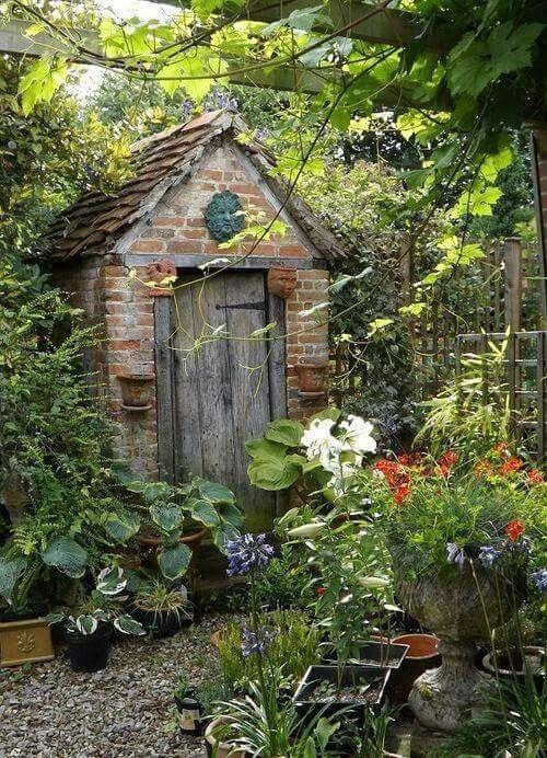 Beautiful landscape gardening shed