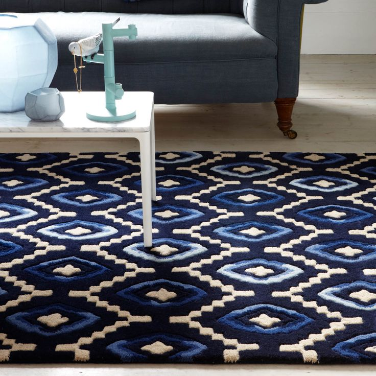Origins Rugs In Blue Are Features Striking Shades Of Blue And Ivory On A  Navy Blue