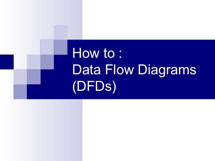 Data flow diagrams for dummies
