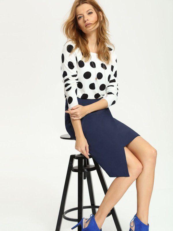 Женские юбки темно-синяя  юбка равномерной длины TOP SECRET - акции, женские юбки по супер ценам.