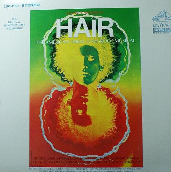 Hair Broadway Cast Soundtrack Vinyl Record Album