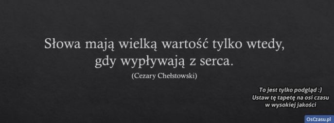 Cytaty i powiedzenia - Zdjęcia w tle na FaceBooka - OsCzasu.pl