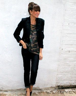 Cute Outfit of the Day: Alex McLean's Camo Shirt : Lucky Magazine