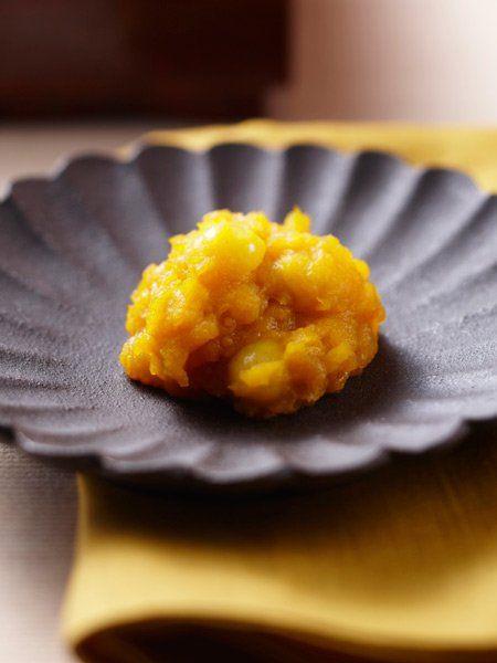 【ELLE a table】かぼちゃと銀杏のきんとん風レシピ|エル・オンライン