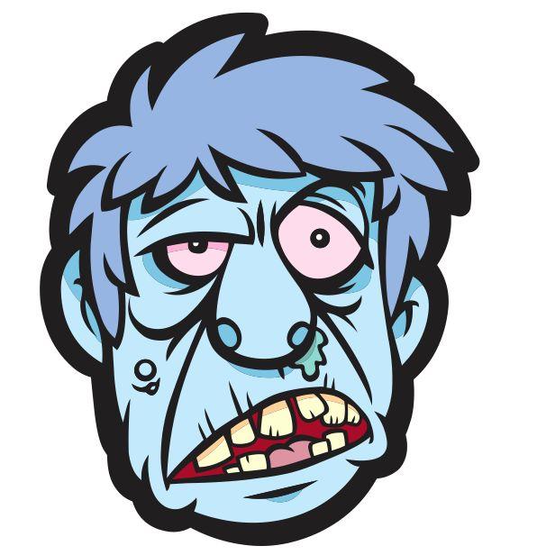 Máscara de Zombie para Imprimir - Carnaval ou Halloween - Brinquedos de Papel