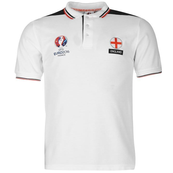 UEFA EURO 2016 England Polo Shirt Mens Size Small