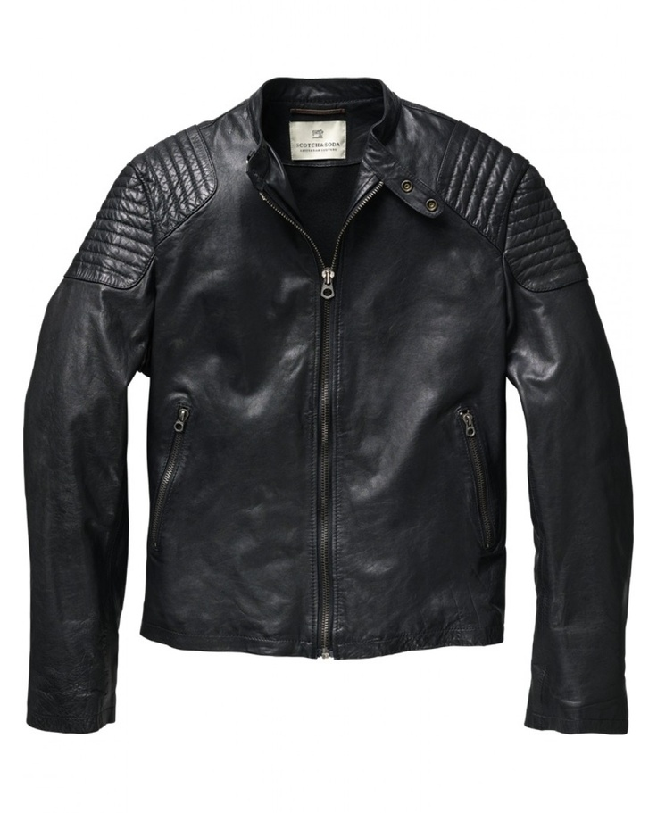 Leather biker jacket - Jackets - Scotch & Soda Online Shop