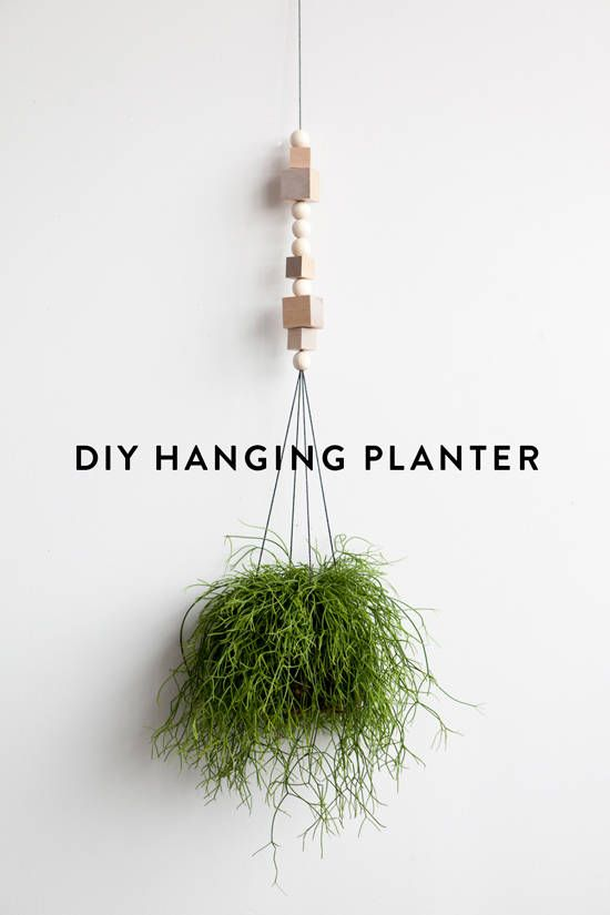 DIY hanging planter with wooden beads | craft tutorial | home decor idea