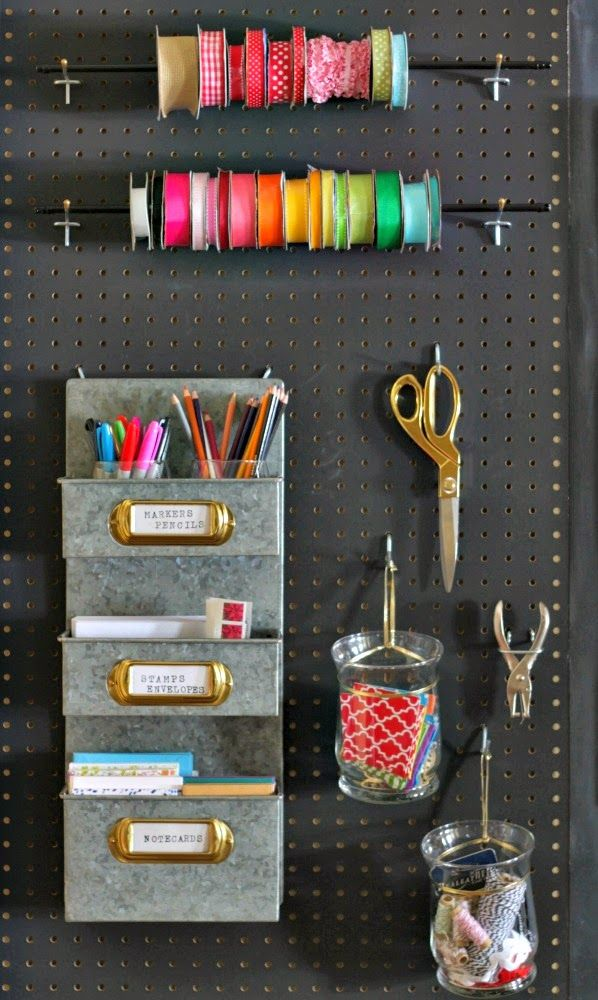 17 best images about get organized on pinterest closet for Diy pegboard craft organizer