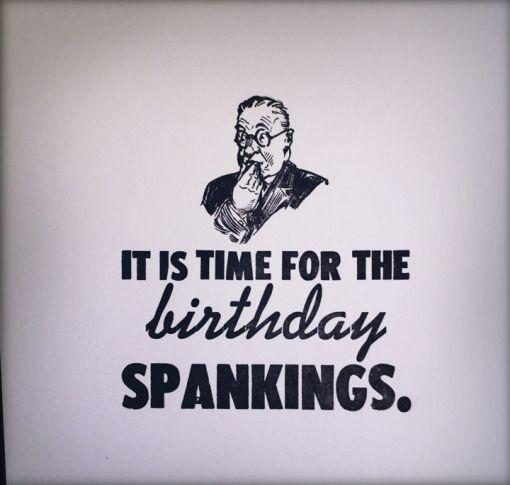 Spank time birthday new sex pics