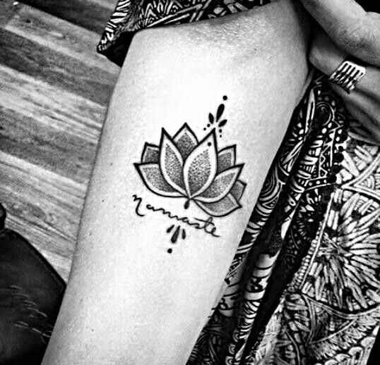The Lotus flower is a symbol commonly featured in eastern cultures, such as Egyptian, Buddhism, and Hinduism. The Lotus is a flower that grows in mud and blooms each morning fresh and clean as though it had never been in the mud at all. Each night the Lotus curls back into the mud, and this cycle continues each day.Of course, it's not a requirement for one to follow any of these eastern philosophies in order to get a Lotus flower tattoo.