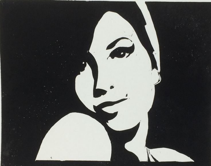 Amy winehouse woodcut by john garrett