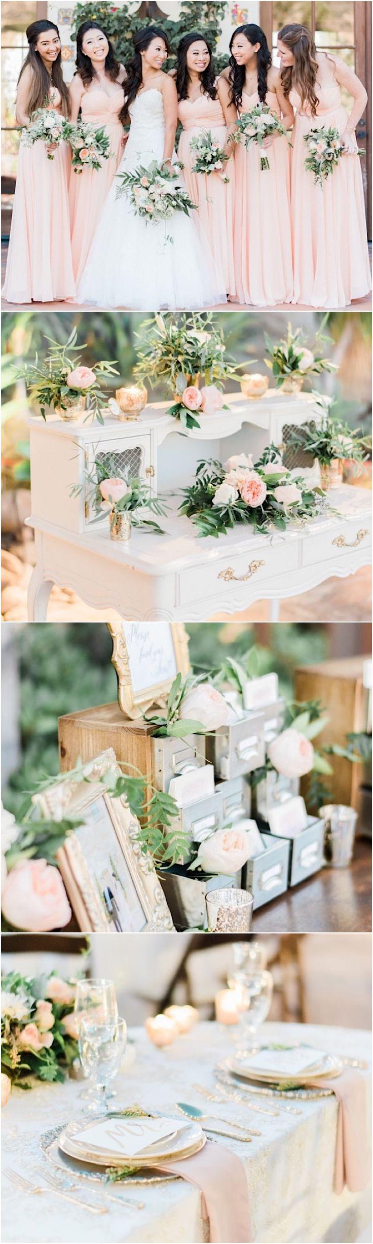 photo: Honey Honey Photography; Blush wedding reception ideas