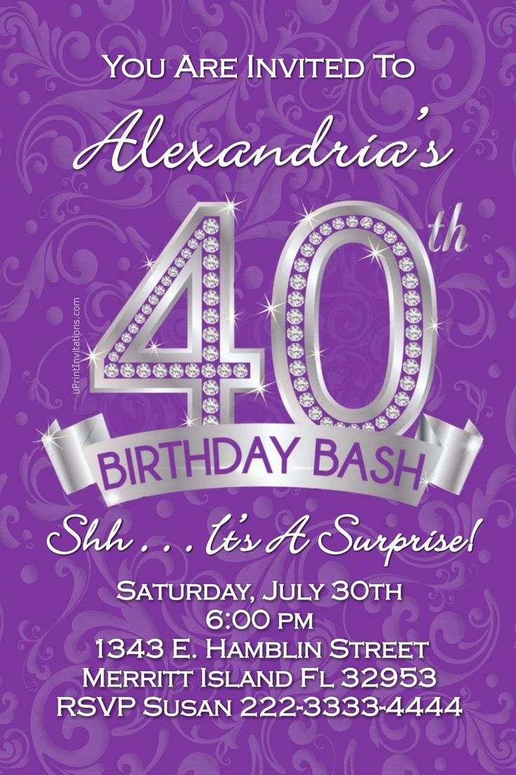 216 best Adult Birthday Party Invitations images on Pinterest | Girl ...