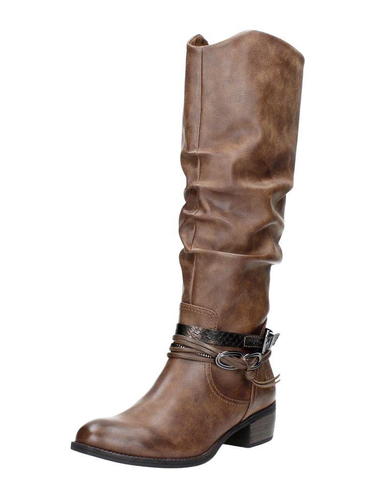 Marco Tozzi lange laarzen met hak - bruin