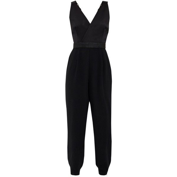 Ted Baker Ossia Strappy Sparkle Jumpsuit, Black (€105) ❤ liked on Polyvore featuring jumpsuits, ted baker, sparkly jumpsuit, sleeveless jumpsuits, jump suit and long jumpsuits