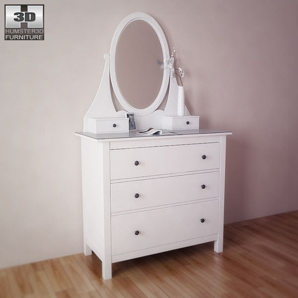 Ikea Hemnes Chest With Mirror 3d Model A West Elm Inspired Ikea Hack Home Bedroom Color Schemes Dressers In 2020 Ikea Dressing Table Ikea Hemnes Dresser With Mirror