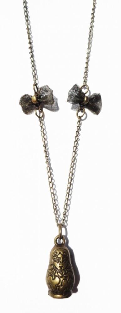 Vintage Matrioshka doll necklace