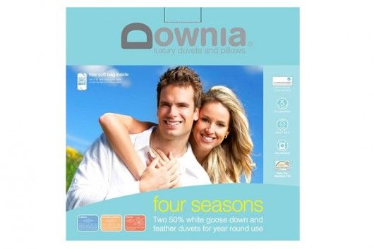 Save on the Downia Four Seasons Goose Down and Feather Single Duvet Set and a wide range of Downia products at Beds Online