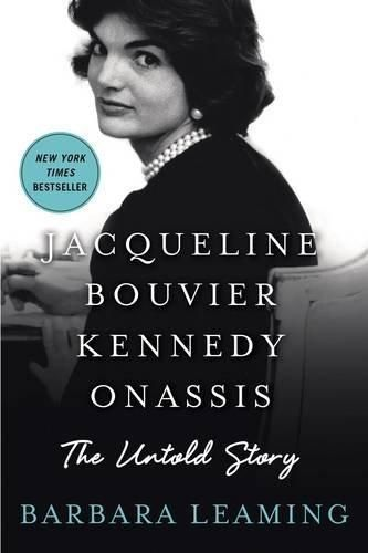 Jacqueline Bouvier Kennedy Onassis: The Untold Story by Barbara Leaming.  The untold story of how one woman's life was changed forever in a matter of seconds by a horrific trauma. Barbara Leaming's extraordinary and deeply sensitive biography is the first book to document Jacqueline Kennedy Onassis' brutal, lonely and valiant thirty-one year struggle with post-traumatic stress disorder (PTSD) that followed JFK's assassination. Here is the woman as she has never been seen before.