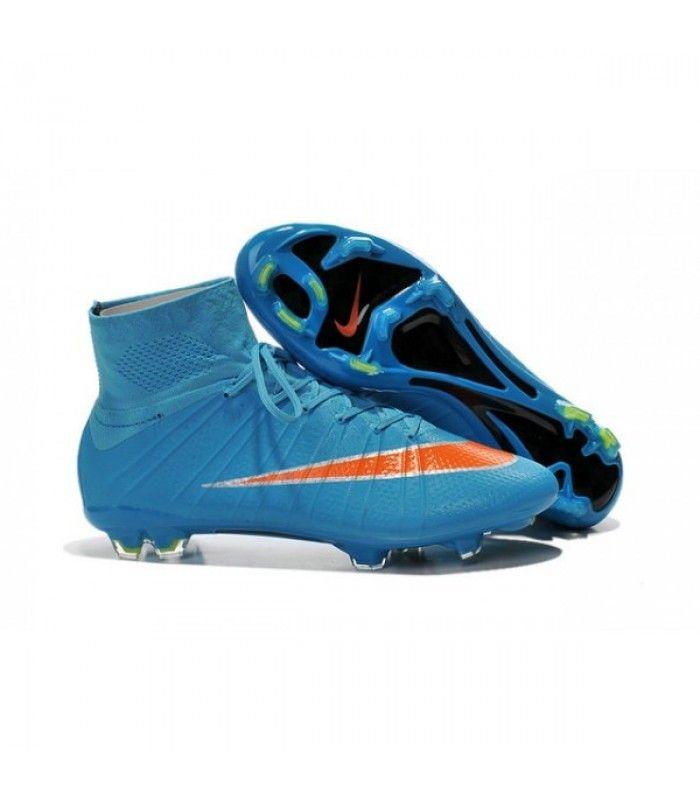 Acheter 2015 Nike Mercurial Superfly 4 FG Crampons de Football Bleu Orange pas cher en ligne 114,00€ sur http://cramponsdefootdiscount.com