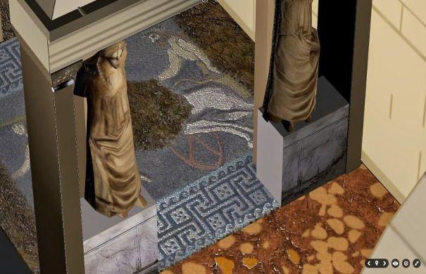 Εντυπωσιακή τρισδιάστατη περιήγηση στο μνημείο της Αμφίπολης με προσθήκη του πανέμορφου ψηφιδωτού