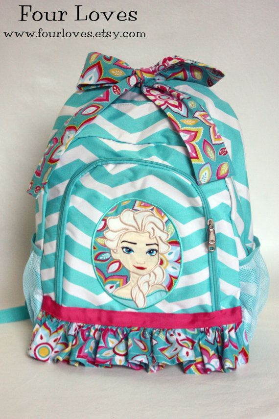 Coupon code: PIN10 for 10% off  Elsa Backpack...Personalized...Four Loves by FourLoves on Etsy