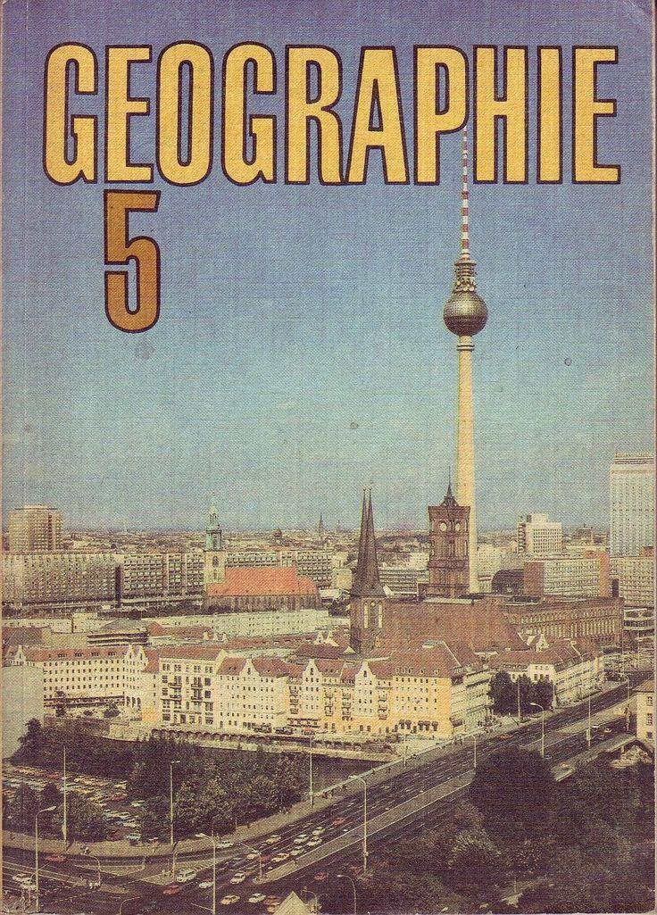 DDR Lehrbuch Klasse 5/Geographie/Volk und Wissen 1990/DDR- Titelbild: Fernsehturm