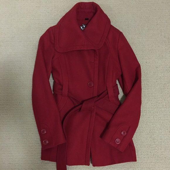 Guess Jackets & Coats - Beautiful Red Wool Coat