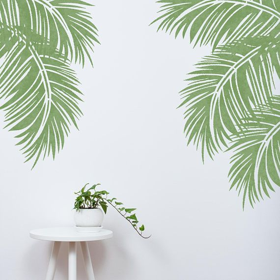 Tropical Palm Stencil Leaf Jungle Forest Plant Tree Wall Furniture Floor Craft Stencil For Painting Trop01 Trop03 Leaf Stencil Leaf Wall Stencil Stencils Wall